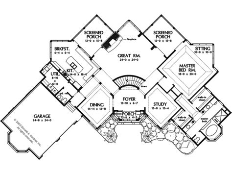1 Story Open Floor House Plans by Angled House Plans Angled Garage One Story House Plans 17