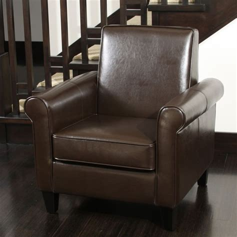 Christopher Leather Chair by Freemont Brown Bonded Leather Club Chair By Christopher