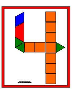 pattern block templates numbers pattern block number templates letter oo pinterest
