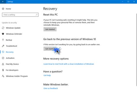 More From 10 by How To Rollback Uninstall Windows 10 April 2018 Update