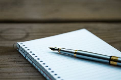 best writing paper for pens pen notebook writing free stock photo negativespace