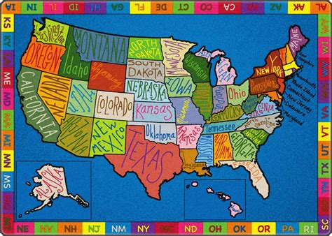doodle 4 usa all my america doodle map carpet by flagship carpets