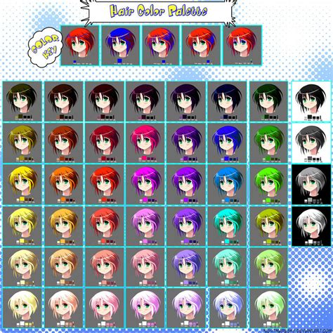 hair color palette by nightmaresky on deviantart