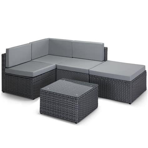 rattan modular corner sofa vonhaus rattan corner sofa modular set wicker weave l
