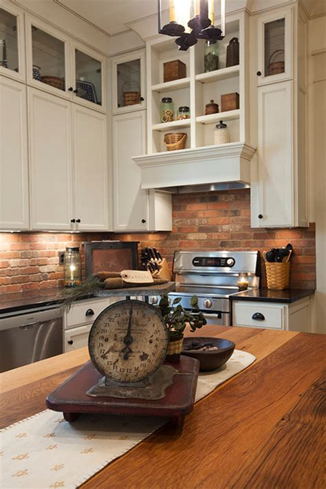 faux brick backsplash in kitchen is the brick backsplash thin brick or faux brick