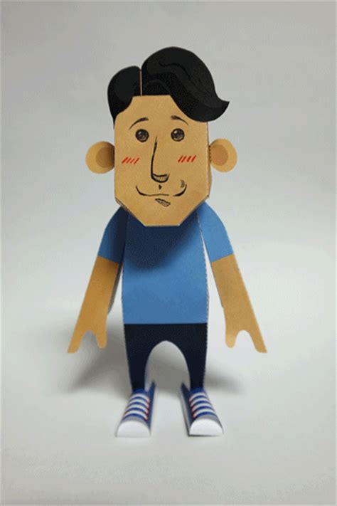 How To Make A 3d Paper Person - diy 3d paper figures with nfc enabled printers samsung