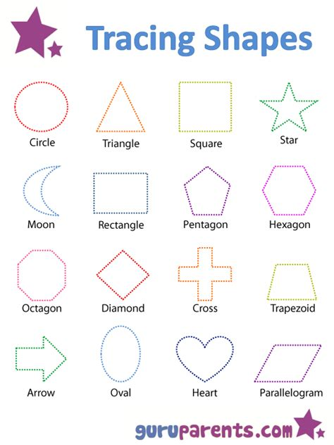 printable toddler shapes tracing shapes worksheets hoc pinterest shapes