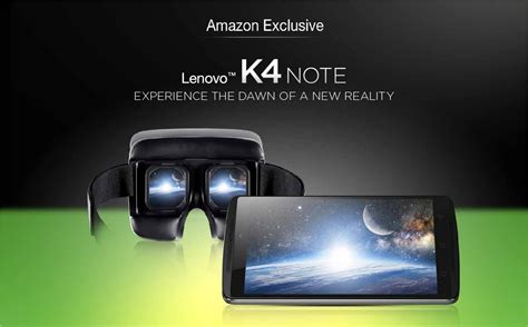 Vr Lenovo K4 in deal lenovo k4 note with vr at rs 11 999 only february 2018