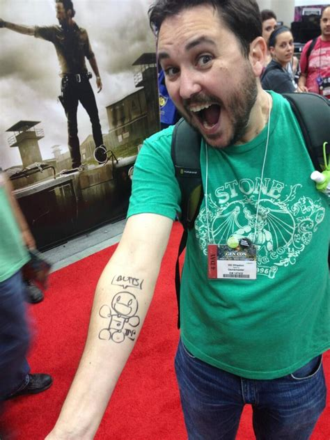 wil wheaton tattoo jeph signed wil wheaton questionablecontent