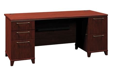 enterprise harvest cherry 72 inch pedestal desk