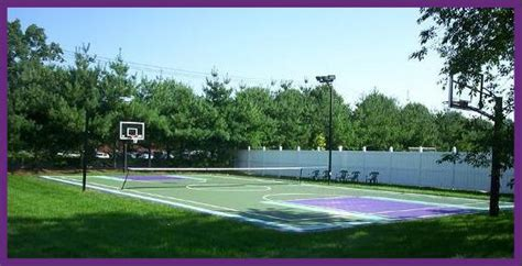 backyard tennis backyard home basketball court and tennis court