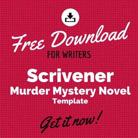 Free Scrivener Murder Mystery Novel Template Murder Mystery Template