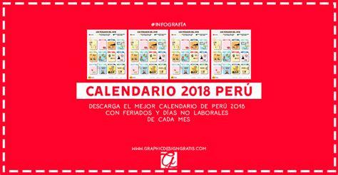 Peru Calendario 2018 Calendario 2018 2019 De Per 250 Con Feriados Para Imprimir Gratis