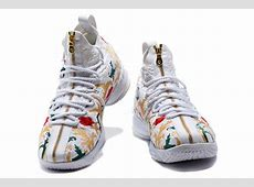 "2017 KITH x Nike LeBron 15 ""Floral"" For Sale White Gucci Shoes For Men"