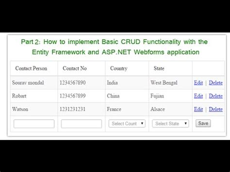 mastering entity framework 2 0 dive into entities relationships querying performance optimization and more to learn efficient data driven development books part 2 basic crud functionality with the entity frame