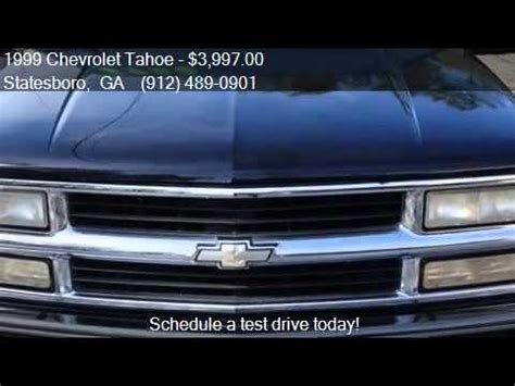 womack auto sales 1999 chevrolet tahoe lt 4dr suv for sale in statesboro ga
