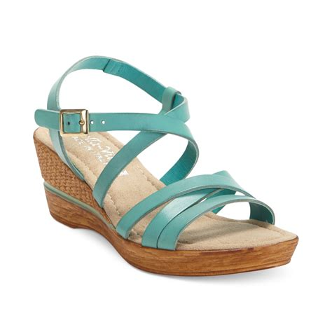 vita italian collection bacio platform wedge sandals