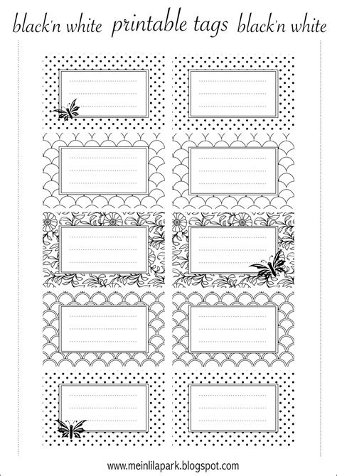Adressaufkleber Drucken by Free Printable Tags Black And White Ausdruckbare