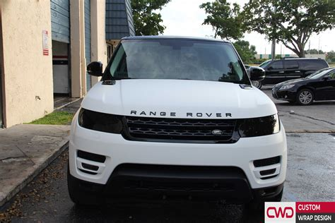 land rover matte range rover matte white and gloss black wrap
