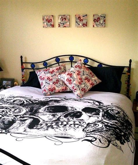skull bed spread skull bedding my home and such