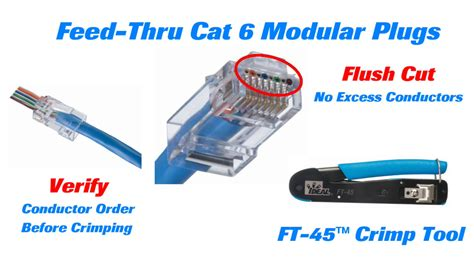 Modular Cat 6 ideal cat 6 feed thru modular plugs