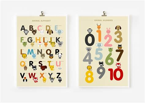free printable numbers wall art children decor alphabet and number posters kids wall art