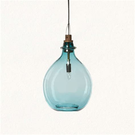 Glass Pendant Lighting Glass Jug Pendant Tropical Pendant Lighting By Terrain