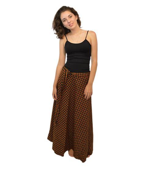 womens fancy black wrap around skirt