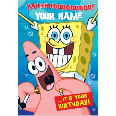 Spongebob Squarepants Yahoo Birthday Card Yahoo Birthday Clip Art