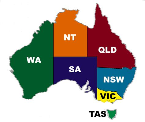 map of states of australia best of diagram australia state map throughout