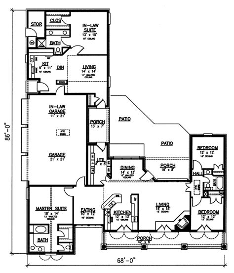 floor plans in law suite house plan chp 33848 at coolhouseplans com like the in law