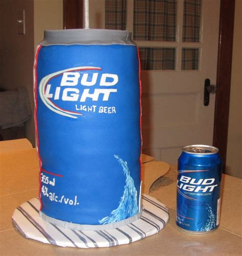 bud light in the can bud light beer can cake cakecentral com
