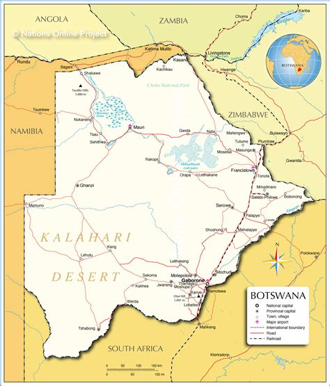 botswana map botswana participatory local democracy