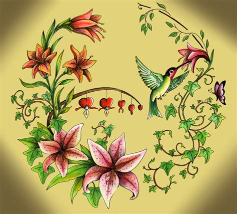 flores tattoo pin pin con picaflor en tatuajes de flores los mejores
