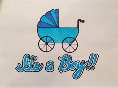 Things To Get For Baby Shower by How To Draw It S A Boy For Baby Shower