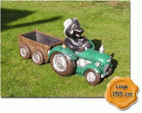 mmmaulwurf auf trecker traktor gartenfigur figur kaufen