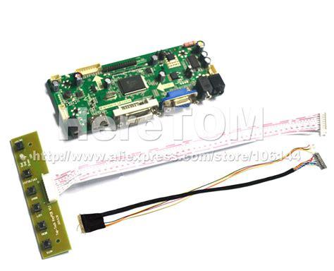 Kabel Pelangi 40 Pin hdmi vga dvi lcd controller board for led lp156wh2 screen 1c 6bit 40 pins lvds cable mini