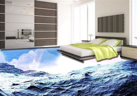 beautiful tiles vinyl flooring waterproof custom 3d mural wallpaper