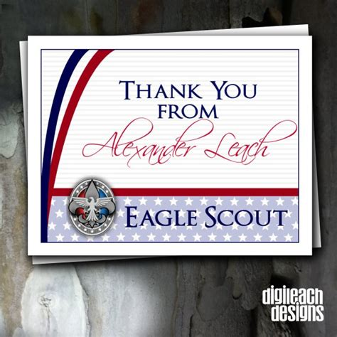 Eagle Scout Thank You Cards eagle scout court of honor thank you note and