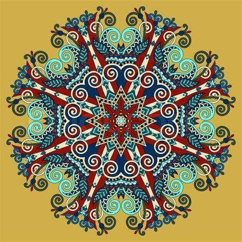 pattern and ornament in the art of india mandala circle decorative spiritual indian symbol of