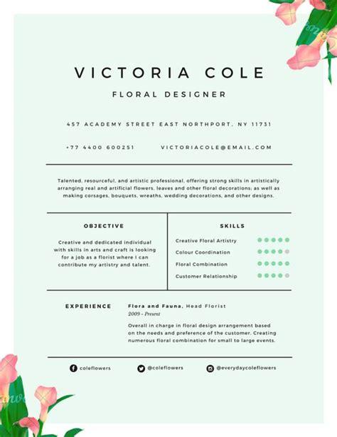 flower design resume pinterest the world s catalog of ideas
