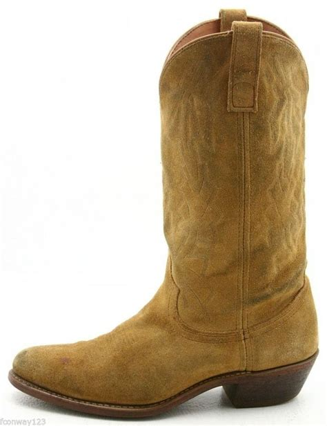 mens suede western boots laredo mens cowboy boots size 9 vintage suede leather