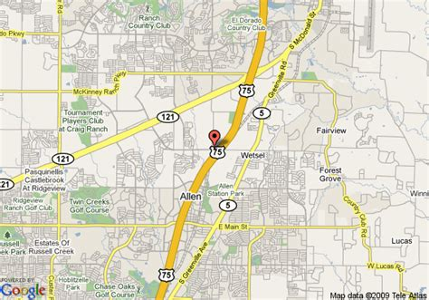 map allen texas map of hton inn suites dallas allen tx allen