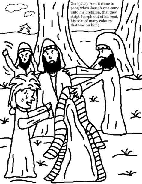 joseph and the coat of many colors coloring page az