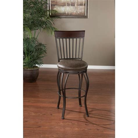 Pepper In Stool by American Heritage Torrance 26 In Pepper Cushioned Bar Stool 126909pp The Home Depot
