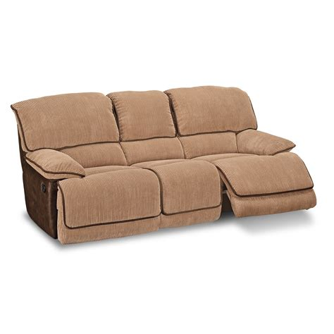 reclinable sofas american signature furniture laguna upholstery dual