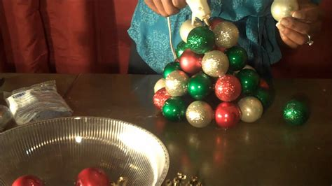 christmas tree made out of ornaments fantastic and easy to make ornament tree using dollar tree materials