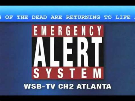 New Tv Alert by Emergency Broadcast Alert System Warning