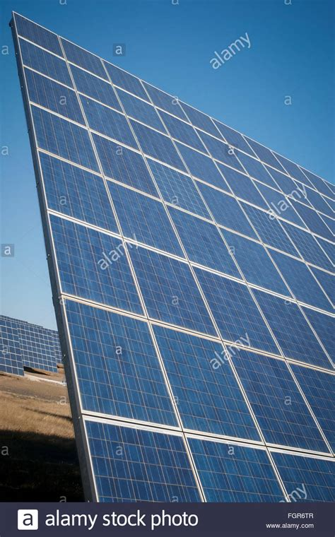 modern sun energy farm solar panels for eco and nature