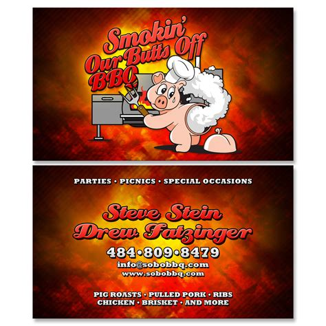 bbq business cards kernie productions gallery smokin our bbq